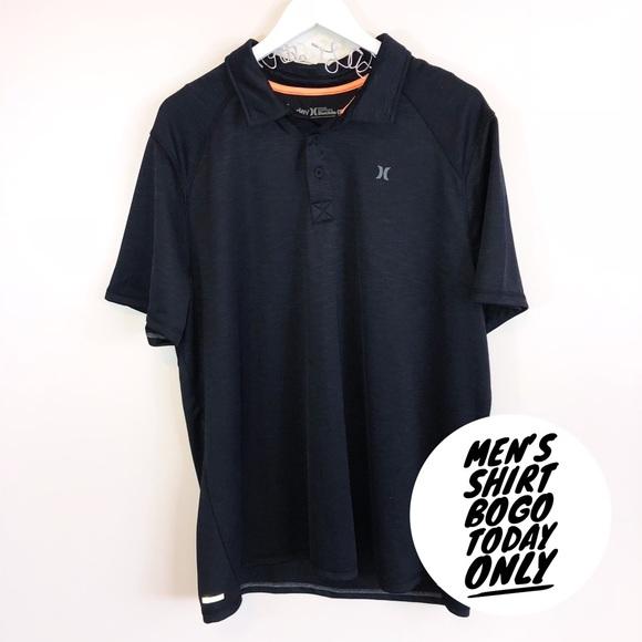 10834766 Hurley Shirts | Mens Black Nike Dri Fit Polo Shirt Xl | Poshmark